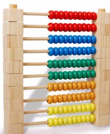 Abac lemn modular colorat