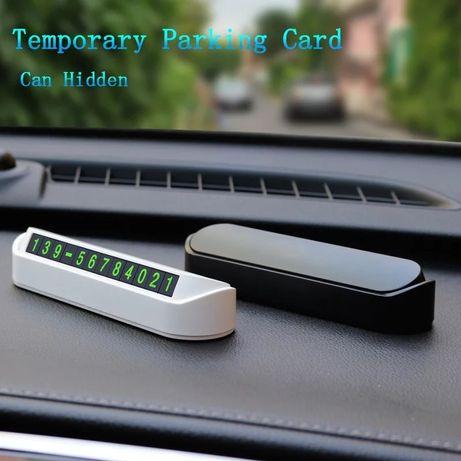 Suport auto pentru numarul de telefon-parcare
