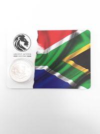 Moneda argint 999 lingou + blister card,Gazella Krugerrand 2021, 31 gr