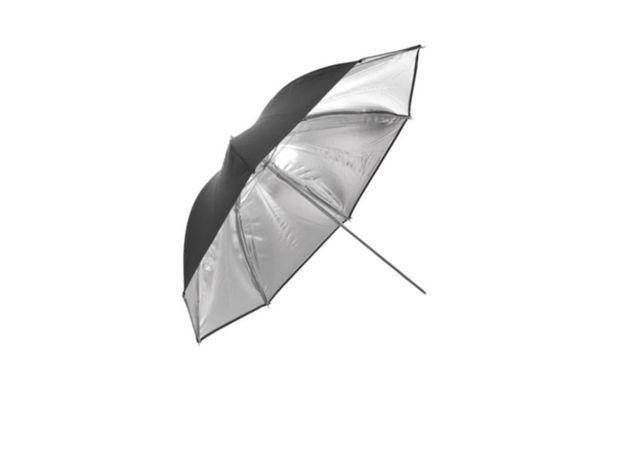 Umbrela fancier reflexie argintie 110 cm