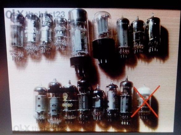 13 броя различни радио лампи