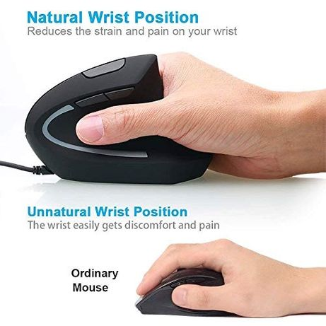 Mouse Ergonomic Vertical WesKimed 2.4G - Wireless - NOU