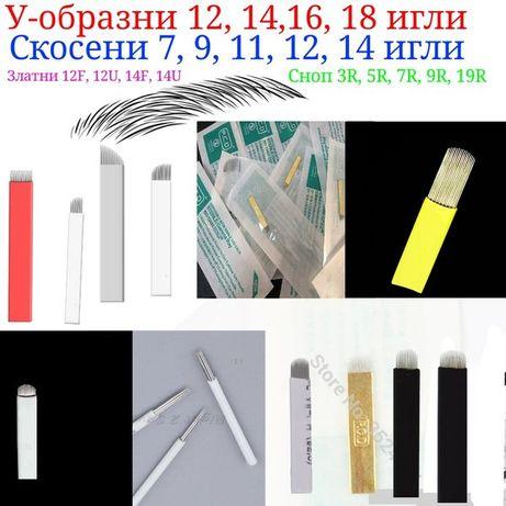 Ножчета игли за микроблейдинг Калипер Линия Молив Писалки Кожа