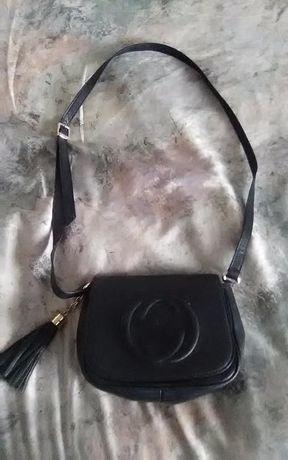Дамска чанта естествена кожа - GUCI