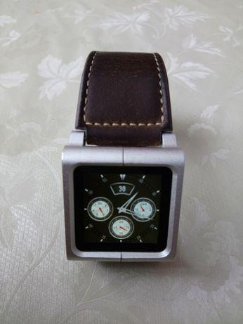 Часы плеер мужские iPod nano 6 память 8GB ремешок оригинальный кожа