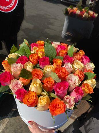 Доставка цветов от 280 тг за розу