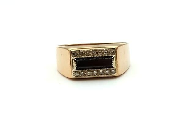Печатка с бриллиантами, золото 585 Россия, вес 6.90 г. «Ломбард Белый»