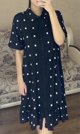 Платье двойка с комбинацией