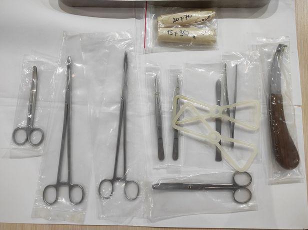 Набор хирургический ветеринарный большой со стерилизатором новый