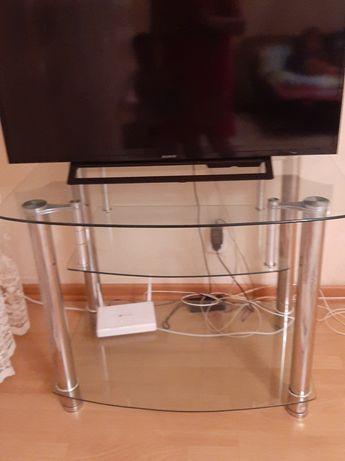 Полка под телевизор стеклянная