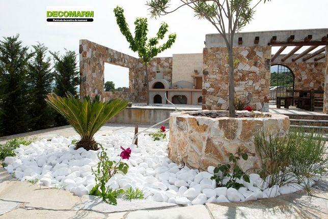 Pietricele marmura/piatra decorativa/marmura alba Thasos 3-6cm