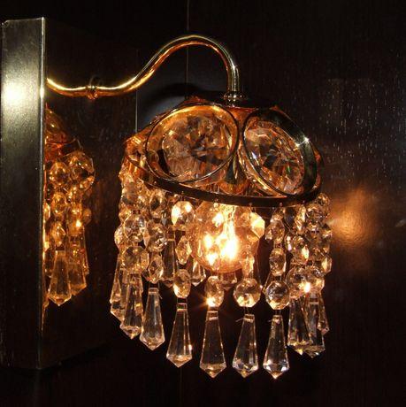 APLICA DE PERETE (petale de cristal si alama), Made in Germany, NOUA