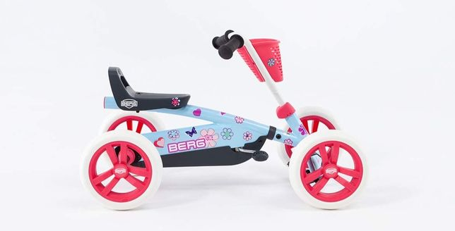 Kart cart cu pedale BERG Buzzy Bloom pentru copii. Varsta 2-5 ani