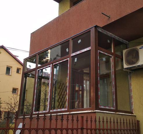 Închidere terase/balcoane cu tâmplărie pvc cu geam termopan/tripan
