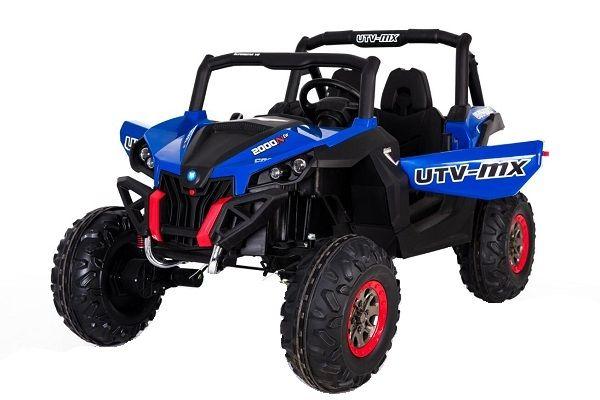 UTV electric pentru 2 copii Rocker Premium 4x4 140W 12V #Albastru