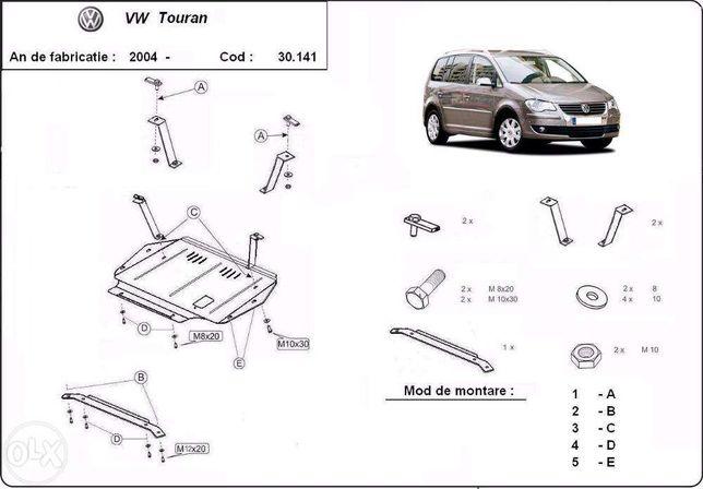 Scut metalic pentru motor VW Touran 2003-2010 - otel 2mm