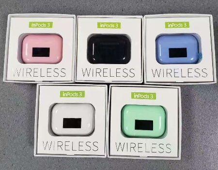 Безжични слушалки bluetooth inpods 3 блутут