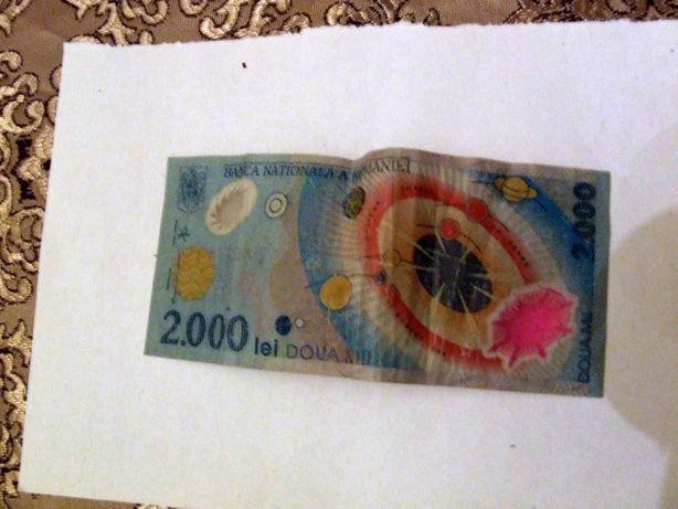 bancnota 2000 lei cu eclipsa din aug.1999