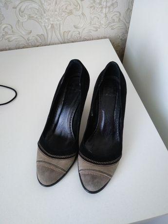 Туфли замшевые натуралка