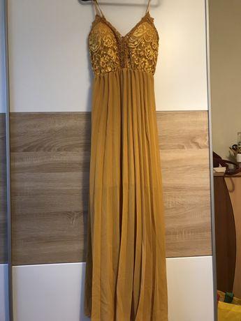 Лятна жълта рокля за официални вечери и поводи