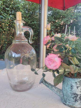 стъклени дамажанчета вино и ракия 4бр