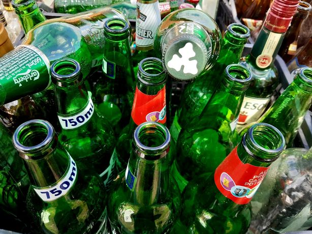 Sticle de sticle pentru reciclare