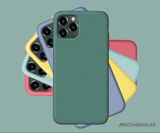 Матов Силиконов Кейс за Apple iPhone 11 /11 Pro Max iPhone 7 8 6 XS XR