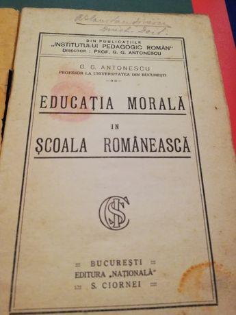 Educatiunea morala in scolile romanesti