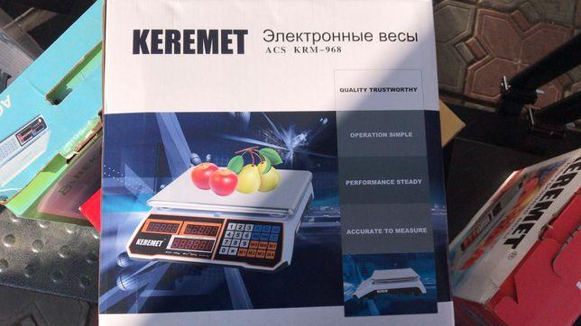Весы настольные до 40кг. электронные продуктовые Керемет Keremet