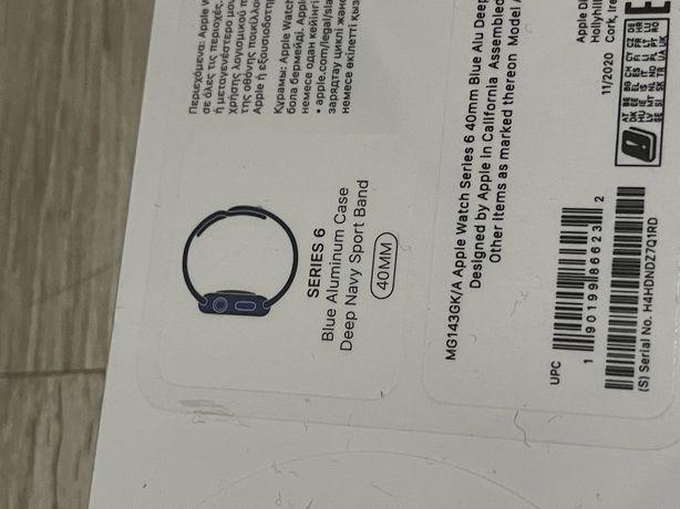 Apple Watch Series 6 40 mm blue