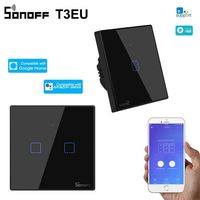 Sonoff tx – t3 wi-fi елегантен и луксозен смарт ключ - черен панел