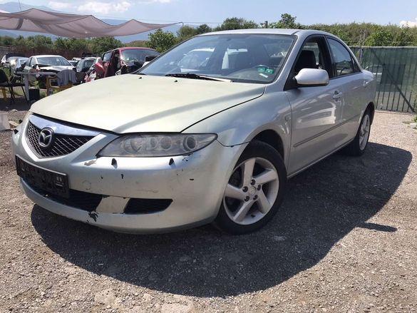 НА ЧАСТИ! Mazda 6 2.0 DI 136 кс. кожен салон климатик Мазда 6 2003 г.