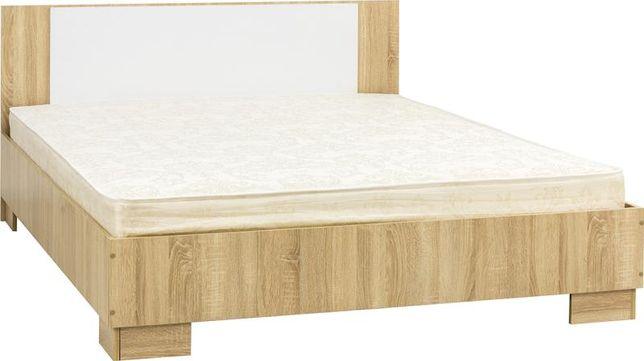 """Кровать 160 """"Лагуна 2"""" Дуб Сонома\Белый Глянец. В наличии"""