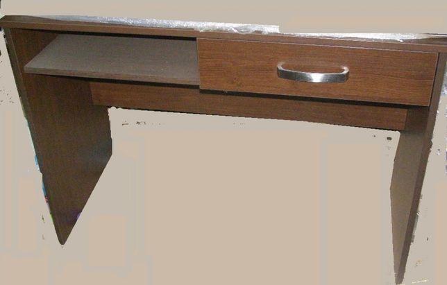 Dulap maro, Birou cu sertar, maro, aproape nou, raft alb pal schimb