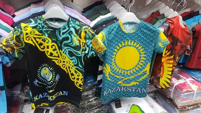 Футболка детская подросковая с орнаментом узором Казахстан ұлттық нақы