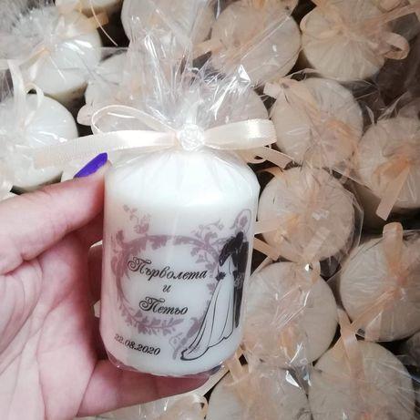Подаръчета за гостите на вашият специален ден - свещички