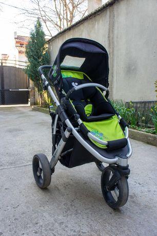 Детска количка Bertoni Carrera - black & green sunny city