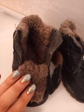 Кожанная зимняя обувь на мальчика
