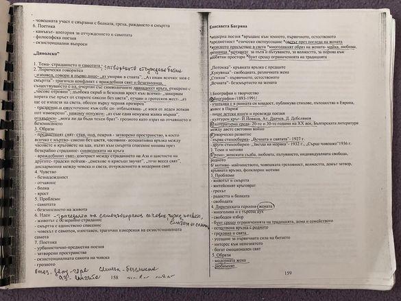ДЗИ по БЕЛ-Помагало по литература за 12 клас