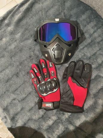 Masca + ochelari + manusi moto, atv, ski