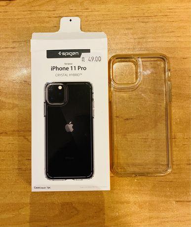 Iphone 11 Pro Хибриден кейс - Spigen Crystal Hybrid Case