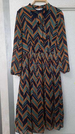Продам красивое женское шифоновое платье, р-р 46