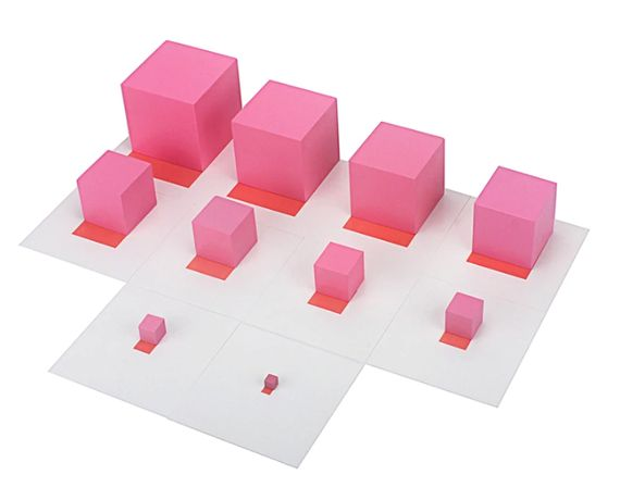 Контролни карти за голяма розова кула Монтесори 1-10см.