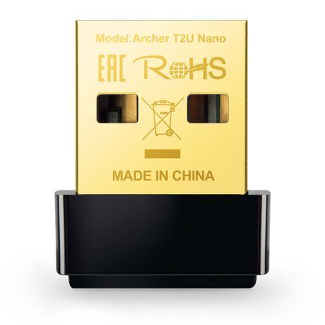 Ланкарта Безжична Tp-Link Archer T2U Nano AC600 600 Mbps DualBand Micr