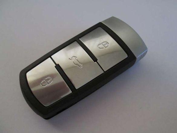 Кутийка за смарт ключ с 3 бутона за VW (Passat B6/B7/CC)!