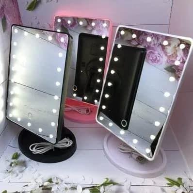Косметическое зеркало с подсветкой Large LED Mirror..