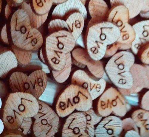 Жълъди, биберони, дървени сърца, сърца с дунапрен за декорация и др