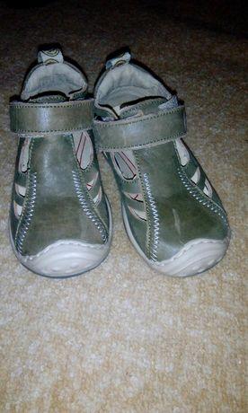 Естествена кожа детски обувки-тип сандалки