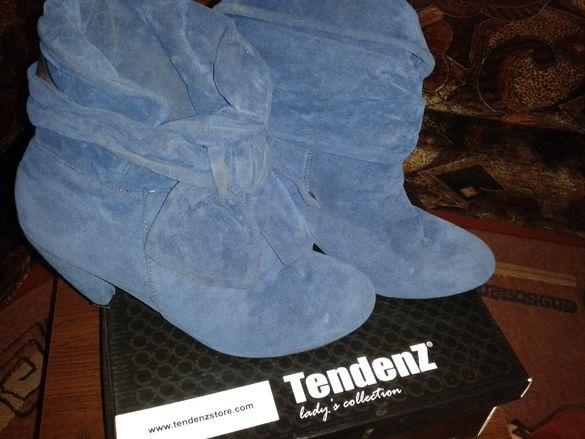 Дамски боти от естествен велур-TENDENZ