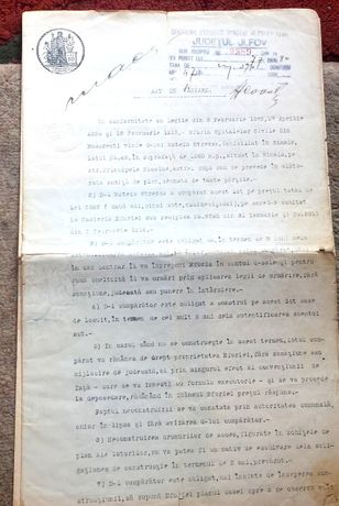 Acte de proprietate, Sinaia, 1914 si 1924